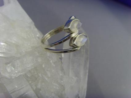 Mondstein - Ring 925er Silber Navettenform - Vorschau 4