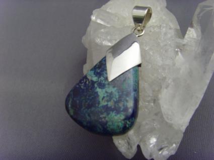 Azurit-Malachit Anhänger 925er Silber
