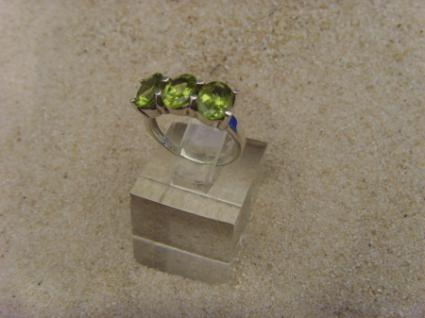 Peridot - Ring 925er Silber Facettenschliff - Vorschau 4