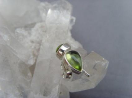 Peridot Ohrstecker - Tropfenform - 925 er Silber