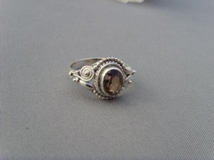 Rauchquarz - Ring filigrane Handarbeit 925er Silber - Vorschau 4