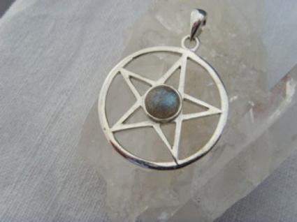 Pentagramm - Labradorit 925er Silber