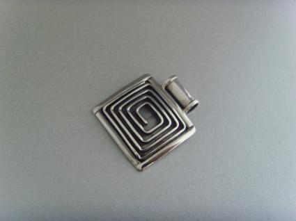 Spiralanhänger viereckig - 925er Silber