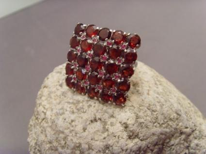Granat-Ring 925er Silber rhodiniert