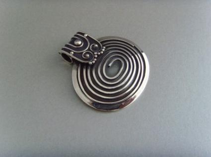 Spiralanhänger oval - 925er Silber