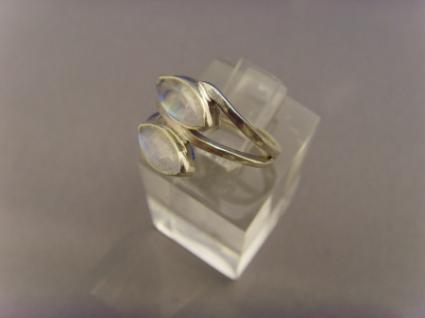 Mondstein - Ring 925er Silber Navettenform - Vorschau 5