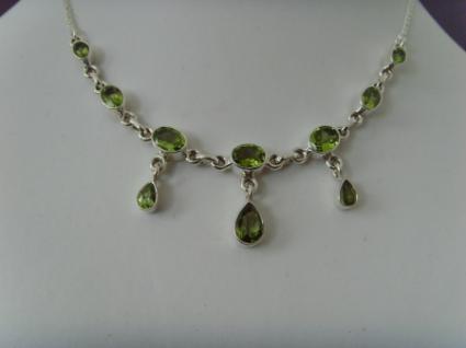 Peridot - Collier Silber 925