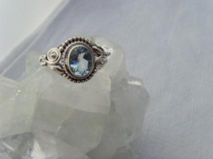 Blautopas-Ring filigrane Handarbeit 925er Silber - Vorschau 5