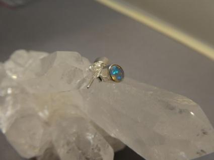 Ohrstecker-Opal 0val 925er Silber