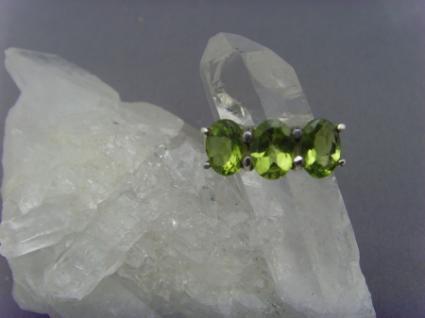 Peridot - Ring 925er Silber Facettenschliff