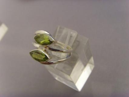 Peridot - Ring 925er Silber Navettenform