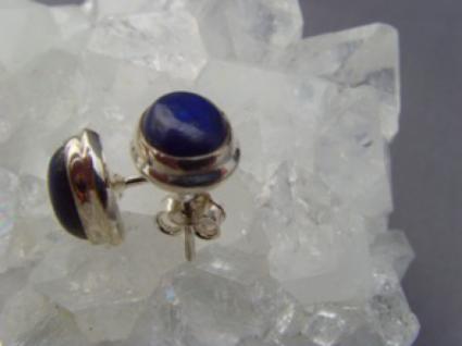 Lapis - Lazuli Ohrstecker oval 925 er Silber