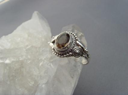 Rauchquarz - Ring filigrane Handarbeit 925er Silber - Vorschau 2