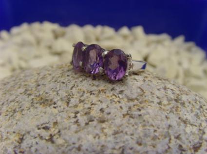 Amethyst - Ring 925er Silber Facettenschliff - Vorschau 4