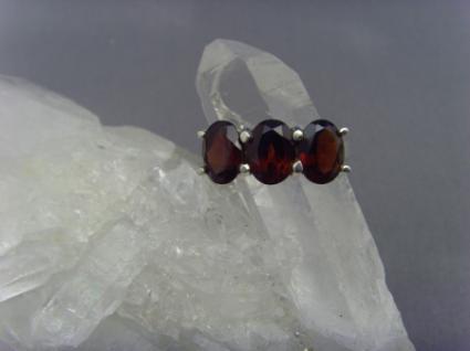 Granat - Ring 925er Silber Facettenschliff
