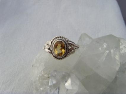 Citrin - Ring filigrane Handarbeit 925er Silber