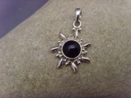 Onyx Inka Sonne 925 er Silber