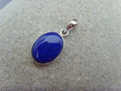Lapis-Lazuli - Anhänger 925 Silber oval - Vorschau 2