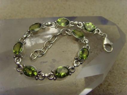 Peridot - Armband 925er Silber