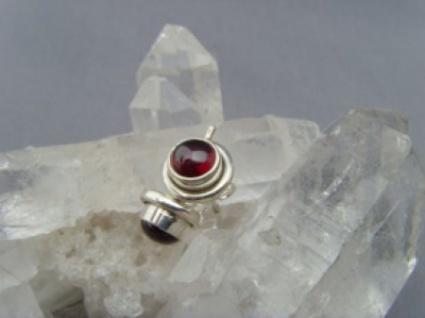 Granat - Ohrstecker 925 Silber rund