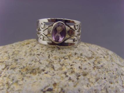 Amethyst Ring 925er Silber