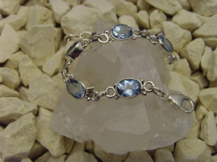 Blautopas - Armband 925er Silber