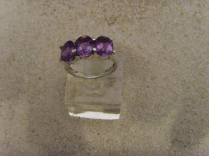 Amethyst - Ring 925er Silber Facettenschliff - Vorschau 2