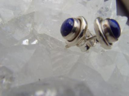 Lapis - Lazuli Ohrstecker rund 925 er Silber