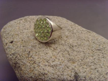 Peridot-Ring 925er Silber