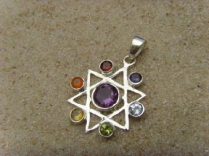 Pentagramm Anhänger - 925er Silber
