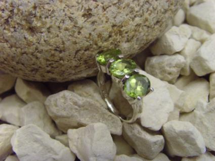Peridot - Ring 925er Silber Facettenschliff - Vorschau 2