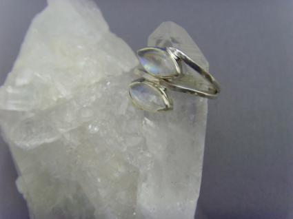 Mondstein - Ring 925er Silber Navettenform - Vorschau 2