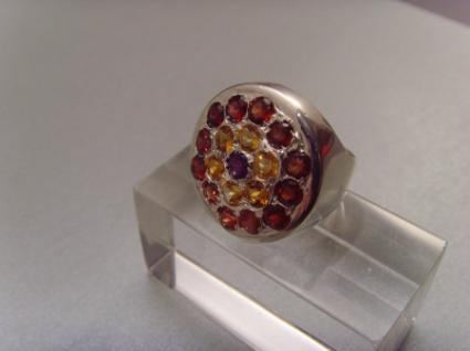 Multicolor-Ring 925er Silber