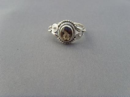 Rauchquarz - Ring filigrane Handarbeit 925er Silber - Vorschau 3