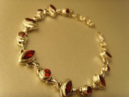 Granatsteinarmband - 925er Silber