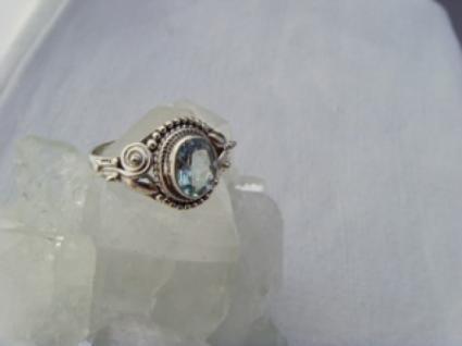 Blautopas-Ring filigrane Handarbeit 925er Silber - Vorschau 4