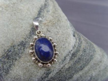 Lapis - Lazuli Anhänger oval 925er Silber