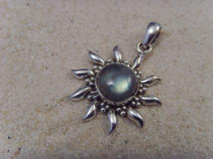 Inka-Sonne-Labradorit 925er Silber