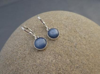 Kyanit-Ohrhänger rund 925er Silber