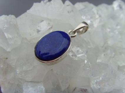 Lapis-Lazuli - Anhänger 925 Silber oval