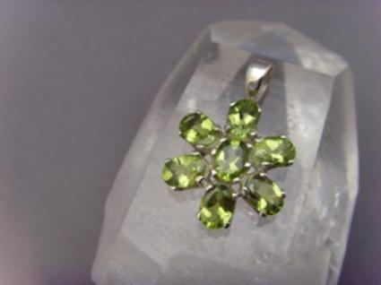 Peridot Anhänger 925er Silber Facettenschliff Arizona - Peridot