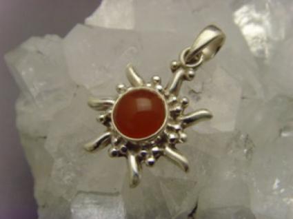 Inka Sonne 925 er Silber Karneol