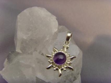 Inka Sonne 925 er Silber Amethyst