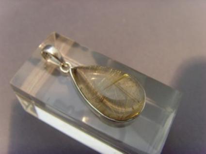 Goldener Rutil-Quarz 925 er Silber