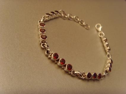 Granat-Armband - 925er Silber