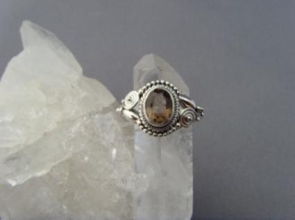 Rauchquarz - Ring filigrane Handarbeit 925er Silber