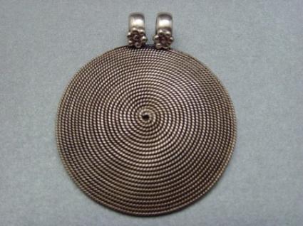 Spiralanhänger rund - 925er Silber