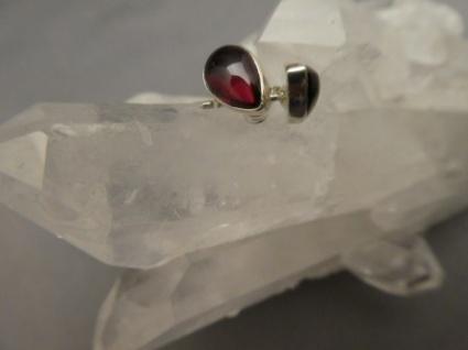Rhodolith - Granat Ohrstecker - Tropfen - 925er Silber