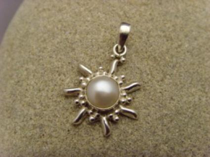 Inka Sonne 925 er Silber echte Zuchtperle