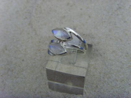 Mondstein - Ring 925er Silber Navettenform